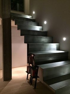 scala a nastro | C.M.F. srl Stairs Architecture, House Stairs, Stairway To Heaven, Staircase Design, Basement Remodeling, Stairways, New Homes, Interior Design, Lighting
