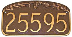 MMPCS17PINECONE Pinecone Address Plaque 2