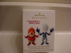 2012 Hallmark Ornaments Heat Miser & Snow Miser Year Without a Santa Claus MIB