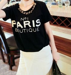 SHIRT: http://www.glamzelle.com/collections/tops-shirts/products/chanelesque-n1-paris-boutique-t-shirt