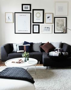 black, grey and white. nice modern looking living room