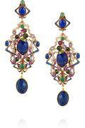 Percossi Papi Art Nouveau gold-plated multistone earrings