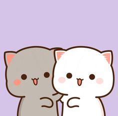 Cute Anime Cat, Cute Bunny Cartoon, Cute Cartoon Images, Cute Love Cartoons, Cute Cat Gif, Cute Cartoon Wallpapers, Cute Bear Drawings, Cute Couple Drawings, Cute Little Drawings