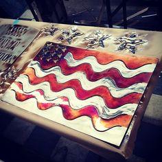 #flag #usaflag #americanflag #merica #patina #metalart #homedecor #notmadeinchina #metalworxinc #oldglory
