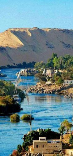 The Nile River. Aswan, Egypt