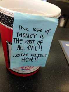 Awesome tip jar at Dairy Queen