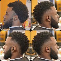 h Mohawk Hairstyles Men, My Hairstyle, Black Men Haircuts, Black Men Hairstyles, Hair And Beard Styles, Curly Hair Styles, Black Hair Cuts, Natural Hair Men, Hair Styles