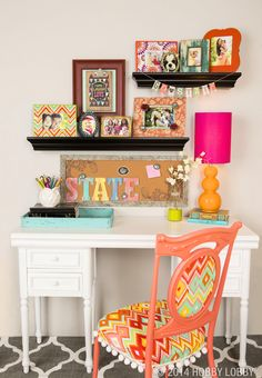 Bring your dorm room to life with pops of bright colors and super-cute patterns!