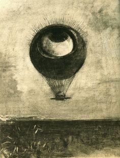 Odilon Redon - Oko jako dziwaczny balon