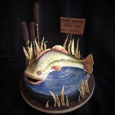 Pêche Pêcheur personnalisé Poisson Comestible Cake Topper