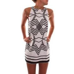 6626e3eba4d42 Geometric Print Mini Dress. Casual Summer OutfitsFashion DressesPeplum  DressesWomen s ...