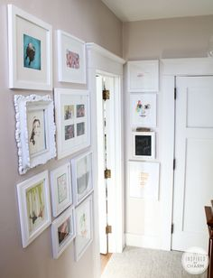 Gallery Wall // Summer Home Tour 2014 at Inspired by Charm