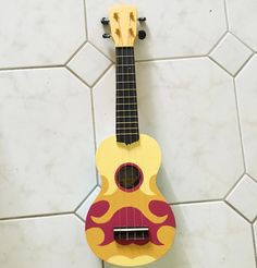 WIP making Steven's ukulele from Steven Universe. Still have to paint the back…