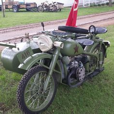 Another motorcycle at the event today. Most of the Soviets were packed up and headed home by the afternoon, but this was still there. #WWII #history #motorcycle #sovietunion