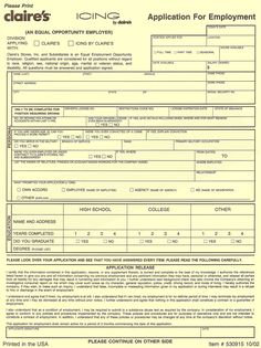 Walmart Job Application Form For Excel Pdf And Word Walmart Job