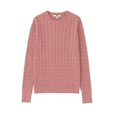 Uniqlo cotton cashmere pink jumper http://fave.co/2clOmfE