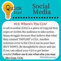 Do you have a call to action or just think you do (or maybe you're just being pushy)! #socialmediatips #businesstips #marketingtips #call2action #follow #TheDalleyLama