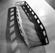 Prototype Body Litter, Evans Products, 1943 Charles & Ray Eames, Evans, Arch, Objects, Design, Products, World War, Longbow