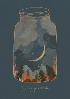 A little 'jar of gratitude' for all of you who are supporting independent artists, local makers, creators and small businesses. You are so very appreciated for connecting with our passions, our crafts and creations! Illustration by Raahat Kaduji - Art And Illustration, Love Heart Illustration, Illustrations Posters, Inspiration Art, Art Inspo, Motivation Inspiration, Cute Wallpapers, Wallpaper Backgrounds, Fall Wallpaper