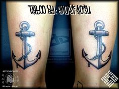 Double Ankle Anchor Tattoos By Enoki Soju by enokisoju.deviantart.com on @deviantART