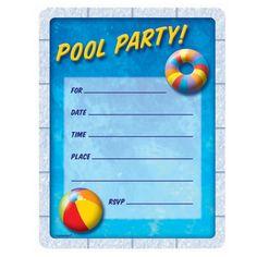 ab9fab4a0920c190c95eb3ef6efd509f pool party invitations invitation ideas pool party invites free printable kids party invites from www,Pool Party Birthday Invitations Free Printable