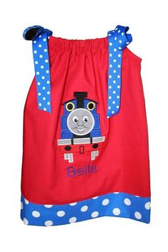 Only it would have to be green and Percy - Thomas the Train Birthday Pillowcase Dress