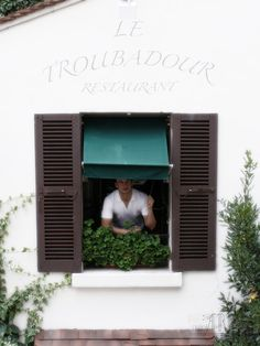 restaurant window in paris france 5x7 13x18 fine by AnnaKiperPhoto, $18.00