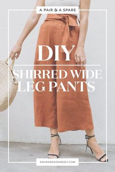 Most current Totally Free sewing pants waistband Popular diy-shirred-wide-leg-pants - supply your own patten but cute pants and a link to shirring instruct Diy Outfits, Sewing Projects For Beginners, Sewing Tutorials, Sewing Tips, Maxi Dress Tutorials, Sewing Ideas, Sewing Patterns Free, Clothing Patterns, Free Pattern