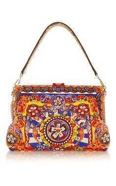 Multicolored Vanda Shoulder Bag With Chain Embellishments by DOLCE & GABBANA for Preorder on Moda Operandi