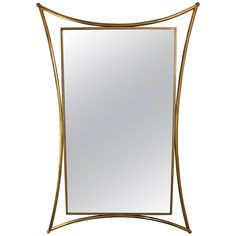 Extraordinary Italian Brass Wall Mirror, 1950s   From a unique collection of antique and modern wall mirrors at https://www.1stdibs.com/furniture/mirrors/wall-mirrors/
