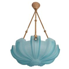 Art Deco Pendant Light By Petitot in Blue | From a unique collection of antique and modern candleholders and candelabra at http://www.1stdibs.com/lighting/candleholders-candelabra/