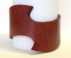 Brown leather cuff .  Leather bracelet by ChristyKeysCreations, $18.00