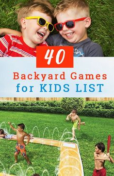 Get 40 of the BEST Outdoor Games for Kids for this Summer. With these backyard games, your Summer will never be the same—it will be better! - Education and lifestyle Backyard Games Kids, Outdoor Games For Kids, Summer Activities For Kids, Outdoor Toys, Summer Kids, Outdoor Fun, Fun Backyard, Summer Games, Toddler Activities