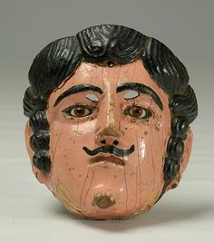 Mexican Mask. Glass eyes.
