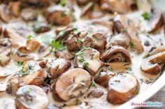Cómo hacer Salsa de champiñones. Receta muy fácil de preparar, una salsa con champiñones y especias para acompañar cualquier tipo de pasta o carne.