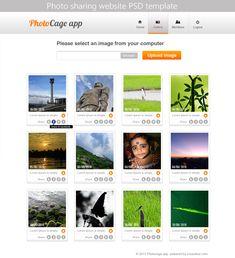 Premium Photo Sharing Website PSD Template for Free Download - cssauthor.com