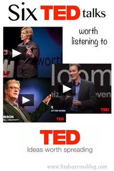 I love listening to Podcasts or TED talks when I'm working around the house doing laundry or dishes or making dinner. These are 6 TED talks definitely worth listening to!