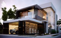 Top 02 House, Of This Week see more at Modern Exterior House Designs, Dream House Exterior, Modern House Plans, Modern House Design, Duplex House Design, House Front Design, D House, Facade House, House Architecture Styles