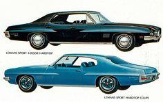 1971 Pontiac LeMans Sport Four Door Hardtop and Sport Hardtop Coupe