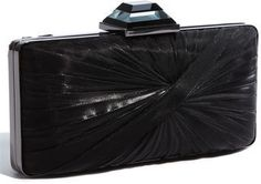 $52, Sondra Roberts Twist Pleat Satin Clutch. Sold by Nordstrom. Click for more info: https://lookastic.com/women/shop_items/334400/redirect