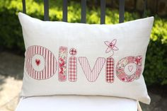 Handmade Personalised Vintage Style Baby Girls Name by LisaGomer, £60.00