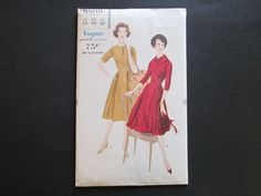 Vintage 1950s Vogue Day Dress Sewing Pattern 9809 Uncut offered by Vanity Flair Vintage on Ruby Lane