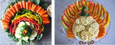 turkey vegetable trays #Thanksgiving