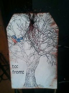 Rusty tree gift tag