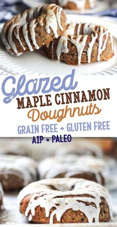 glazed maple cinnamon doughnuts [gluten free, AIP, Paleo, grain free, dairy free, vegan, nut free, egg free - low allergen and anti-inflammatory recipes, autoimmune protocol from rally pure]