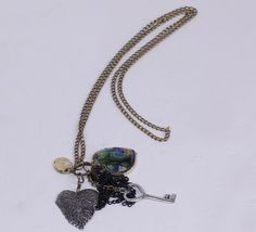 $1.55   29.5cm Sweater Chain Necklace Jewelry With Different Shapes Pendants Coppery