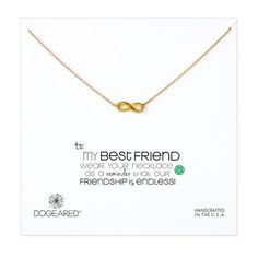 to my best friend infinite love necklace, gold dipped