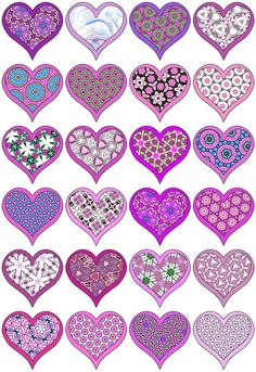 artbyjean clip art hearts | CUTE LITTLE HEARTS - A collection little heart clip art with 24 hearts ...