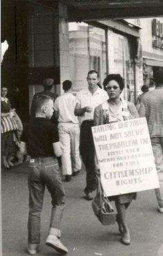 Civil rights activist Daisy Lee Gatson Bates (1914–1999). Founder with her husband of the Arkansas State Press, president of the Arkansas branch of the NAACP, key organizer of the desegregation of Little Rock's Central High School, Democratic National Committee member, author of The Long Shadow of Little Rock, and more. Bates is one of 36 women featured in Women's Work -- a free, downloadable lesson for high school students and adults: http://www.civilrightsteaching.org/resources/womenswork