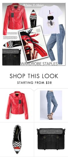 """Wardrobe Staple: White T-Shirt"" by cherry-bh ❤ liked on Polyvore featuring Nicholas Kirkwood, ESPRIT, Garance Doré, WardrobeStaple and polyvoreeditorial"